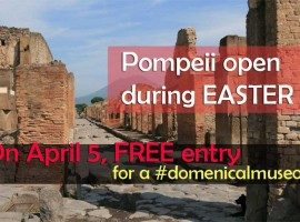 Pompeii open Easter