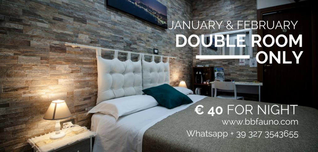 Pompeii double room 40 euro