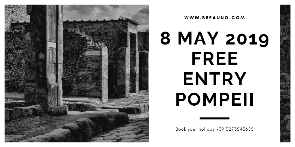 8 May 2019 free entry Pompeii