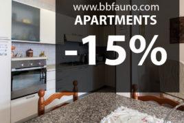 APARTMENTS RENTAL -15%