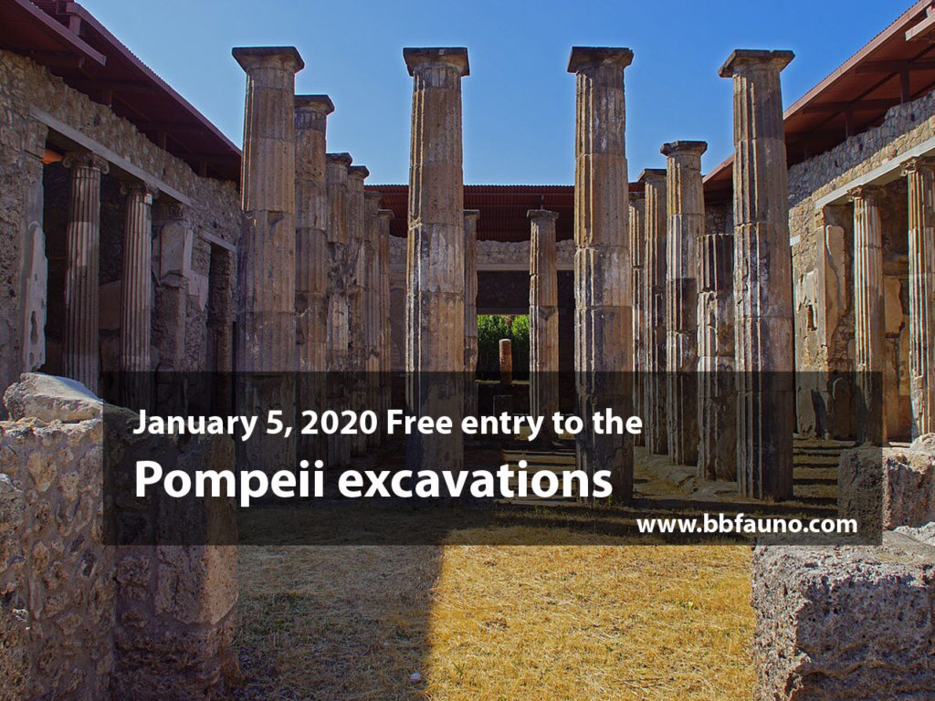 January 5, 2020 Free entry to the Pompeii excavations