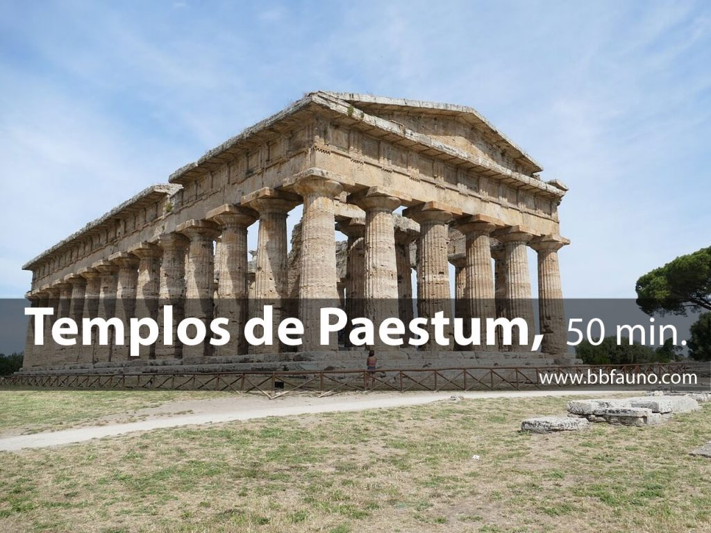La zona arqueológica de Paestum