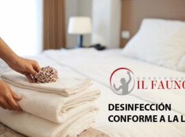 Limpieza y desinfección de habitaciones Hotel Pompei Fauno