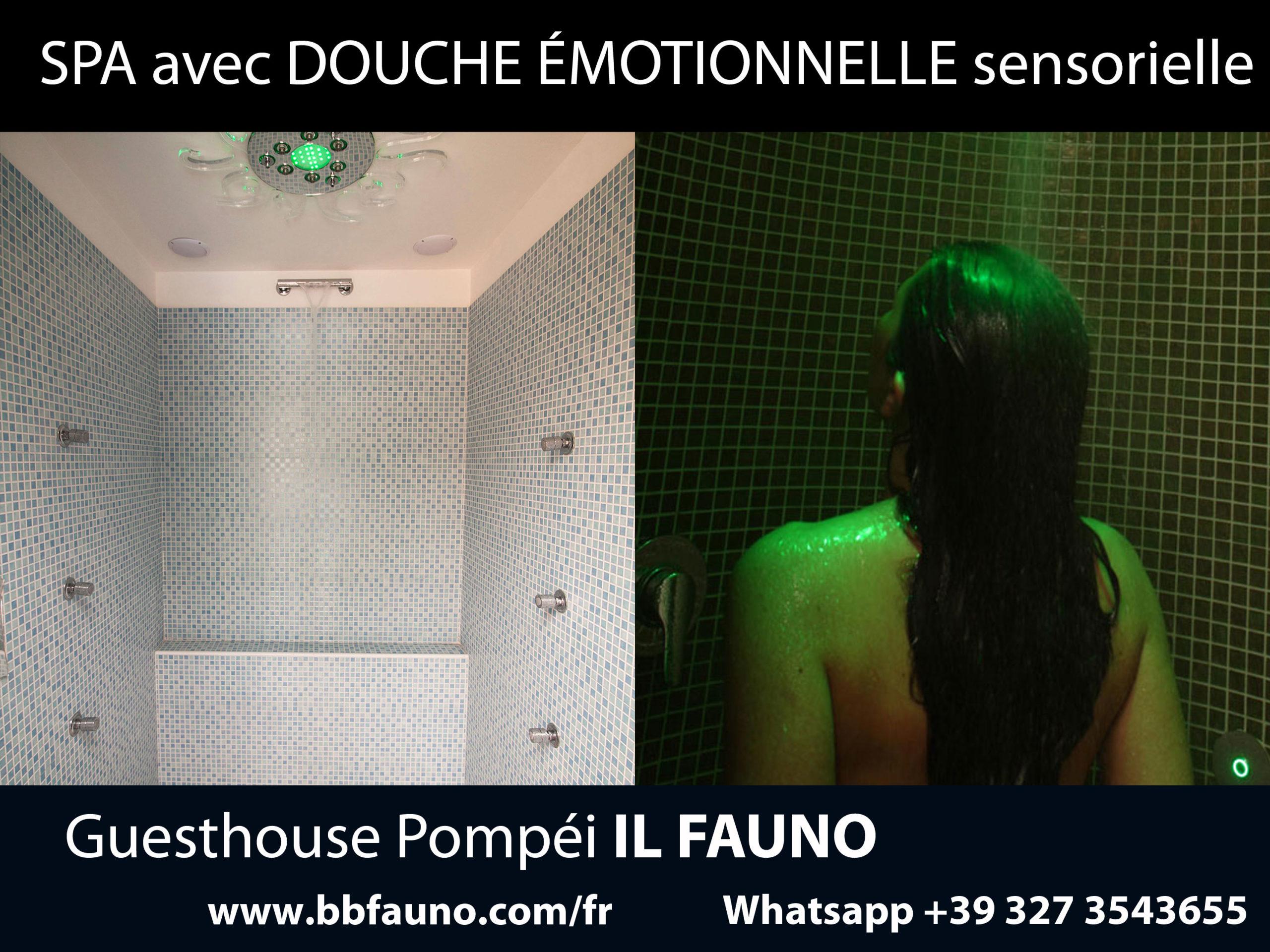 Pompéi hôtel douche émotionnelle