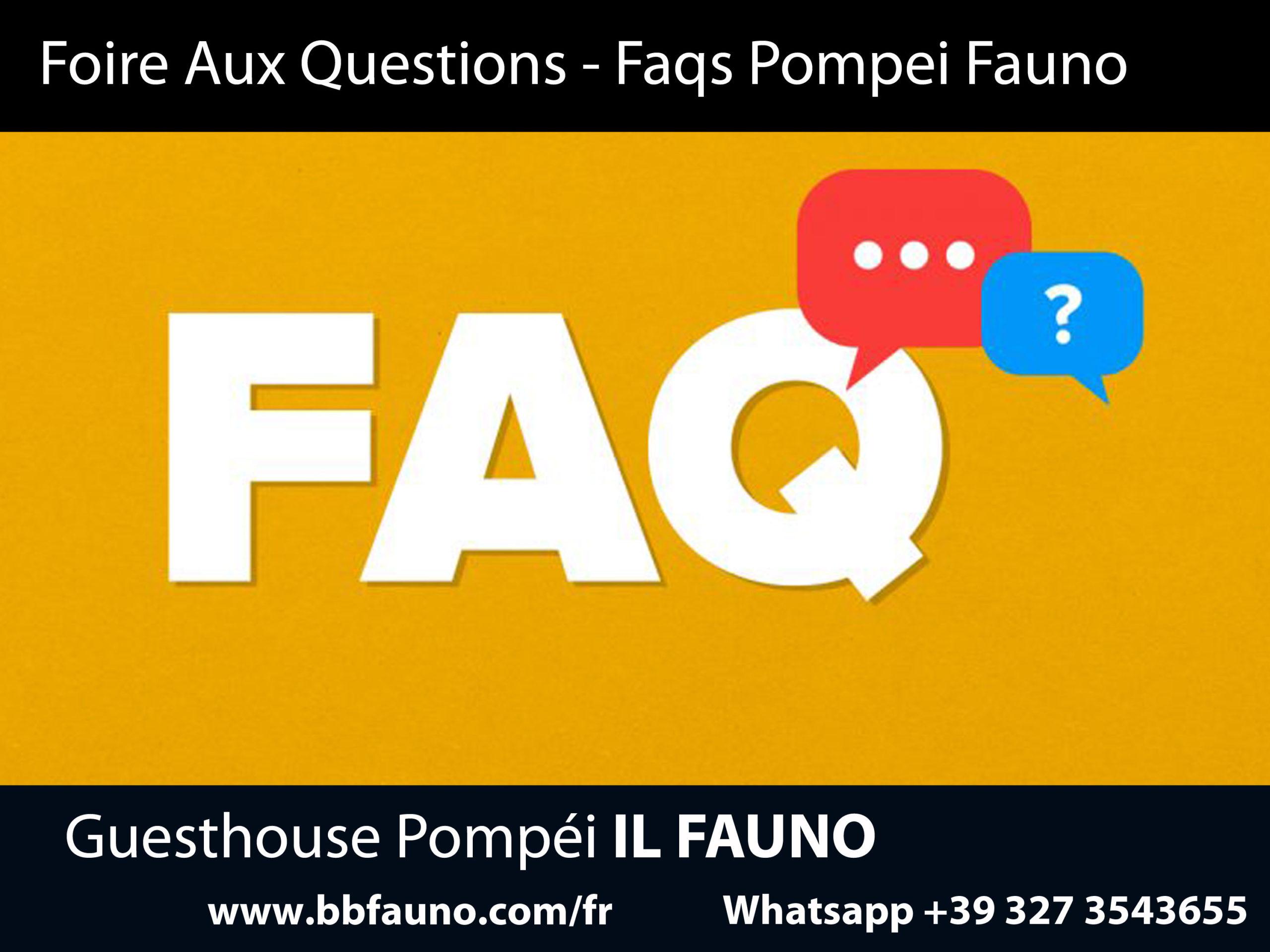 FAQ Hotel Pompei