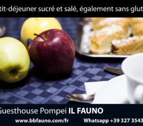 Petit déjeuner à Pompéi
