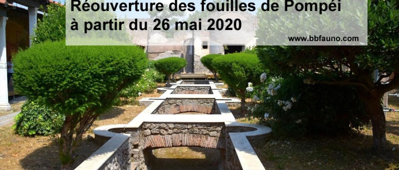 Réouverture des fouilles de Pompéi à partir du 26 mai 2020, réservez dès maintenant votre chambre près du site archéologique!
