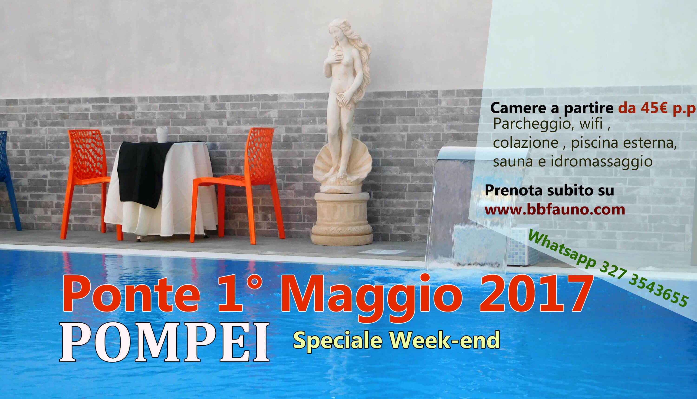 Ponte 1 Maggio 2017 Pompei