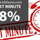 LAST MINUTE -8%