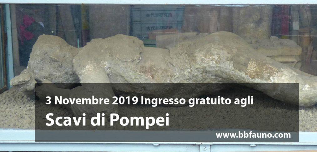 3 Novembre 2019 ingresso gratuito Pompei