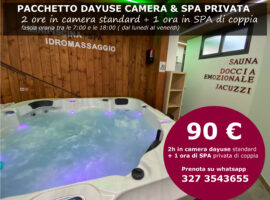 Offerta Dayuse Camera e Spa privata