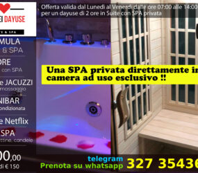 Dayuse Suite con SPA privata 100 euro