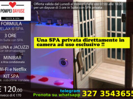 Dayuse Suite con SPA privata 120 euro